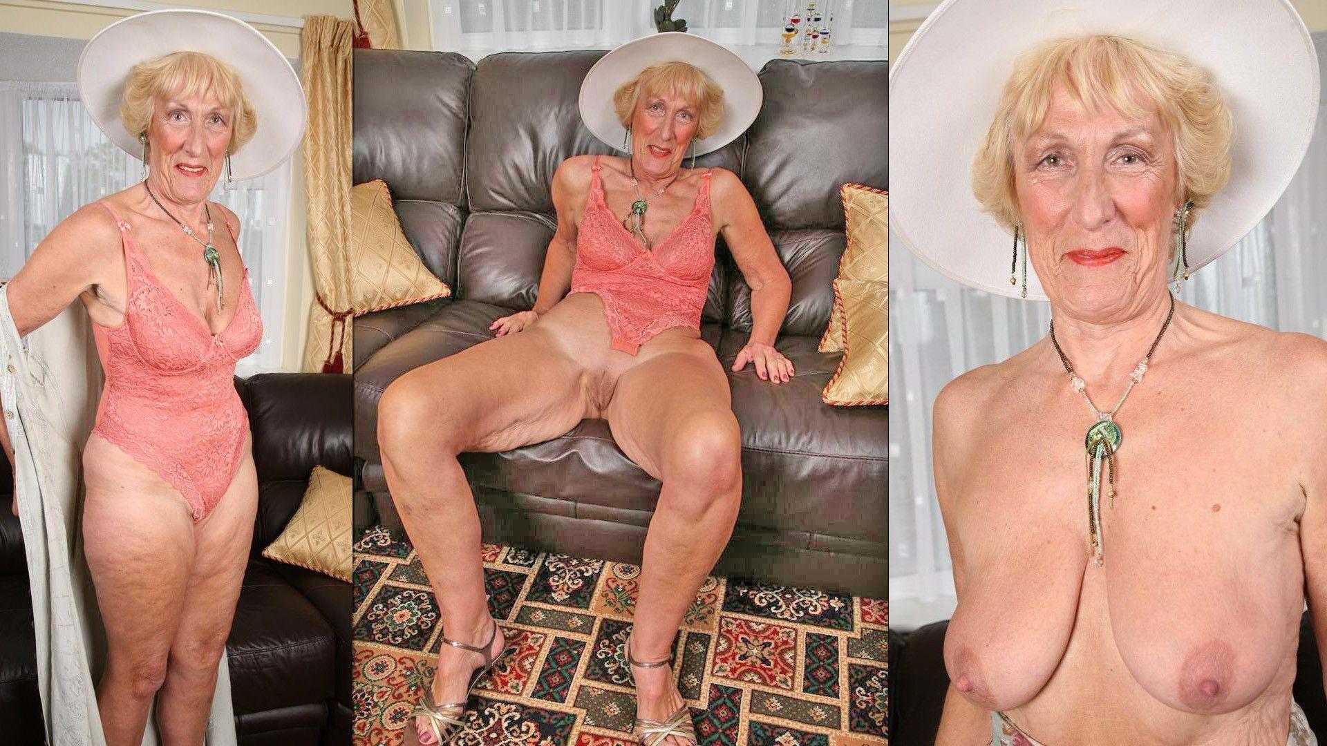 Compilation de photos de grand-mères toutes nues,